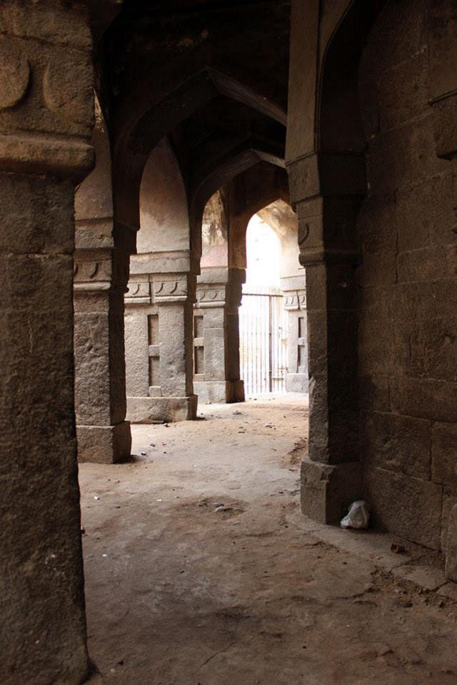 The verandah that runs around the octagonal central chamber.