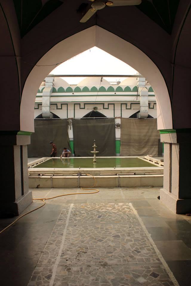 View of the 'sahn' or courtyard from the entrance.